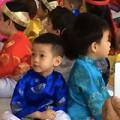 Làng sao - Subeo mặc áo dài truyền thống đón xuân