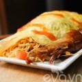 Bếp Eva - Làm mì gói cuộn trứng với thịt dư thừa ngày Tết
