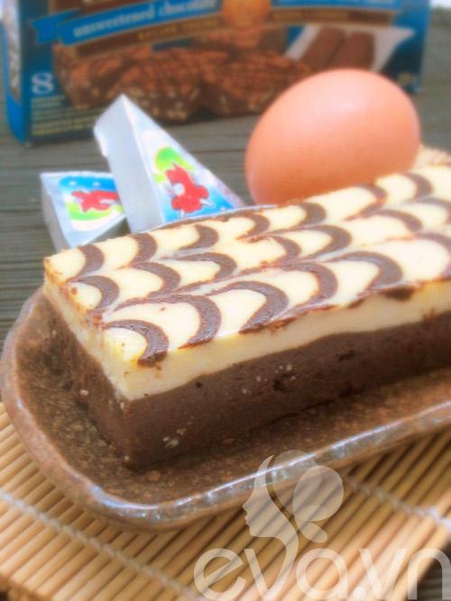 banh creamcheese brownies: vung cung lam duoc! - 16