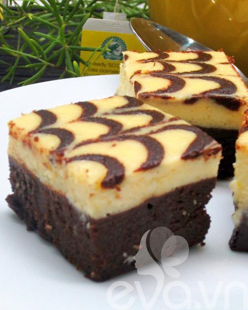 banh creamcheese brownies: vung cung lam duoc! - 18