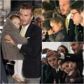 Thời trang - Bố con Beckham sành điệu xem show mẹ Victoria
