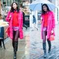 Thời trang - Hoàng Thùy hồng rực trên phố London