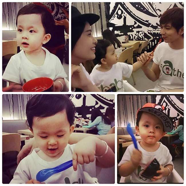 Contrai Tim(tên thật là Cát Vũ) và Trương Quỳnh Anh có tên là Cát An,ngay từ nhỏ bé đã bụ bẫm và vô cùng đáng yêu.