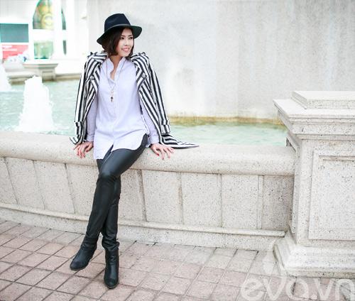 Xuống phố ngày lạnh, HH Việt chuộng áo da-12
