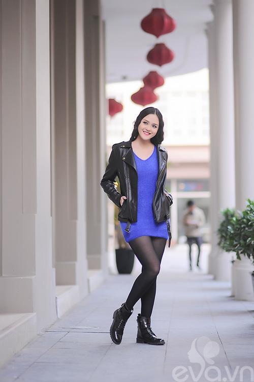 Xuống phố ngày lạnh, HH Việt chuộng áo da-4