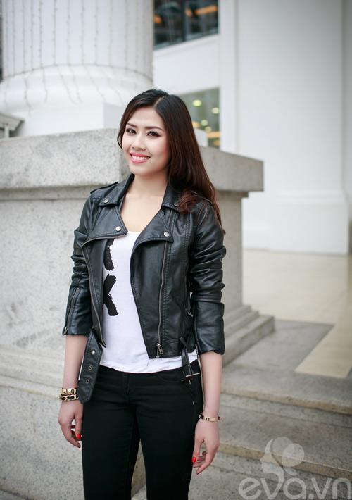Xuống phố ngày lạnh, HH Việt chuộng áo da-8