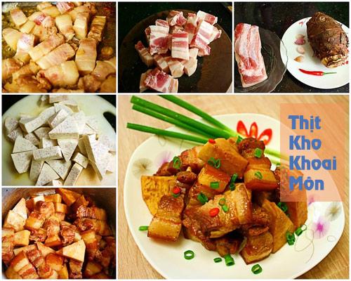 thuc don: thit kho khoai, canh chua ca - 1