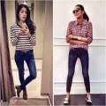 Thời trang - Hà Tăng mặc quần jeans lộ chân khẳng khiu