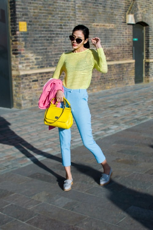 hoang thuy dien colorblock dao choi london - 3