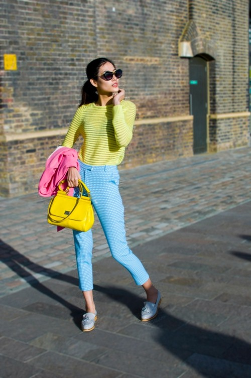 hoang thuy dien colorblock dao choi london - 4