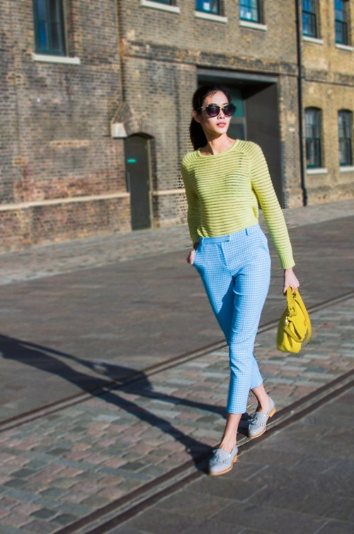 hoang thuy dien colorblock dao choi london - 6