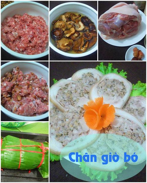 thuc don: chan gio bo, canh hen chua - 1