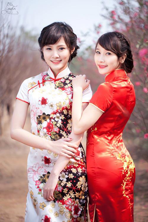Thiếu nữ Việt xinh tươi sườn xám, hanbok-12