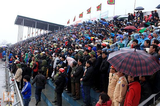 Đội mưa xem lễ hội chọi trâu đầu tiên tại Hà Nội-4