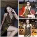 Thời trang - Siêu mẫu Khánh Ngọc sexy với váy xẻ sâu