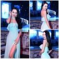 Thời trang - Vũ Hoàng Điệp gợi cảm với đầm xanh bạc hà