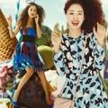 Thời trang - Kim Tae Hee hồi teen: Váy hoa, tóc xù