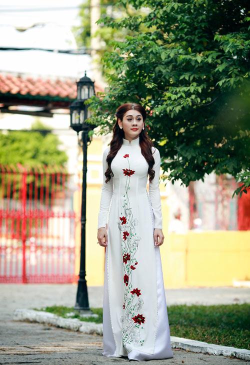 my nhan chuyen gioi duyen dang vói ta áo dài - 6