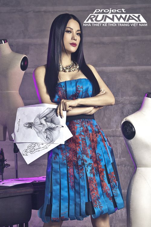 truong ngoc anh tro thanh host project runway 2014 - 2