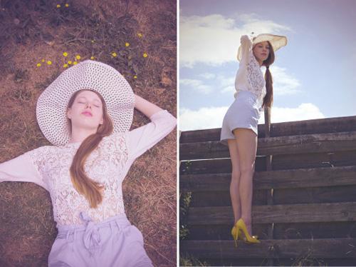 Học sao nữ diện ren trắng tinh khôi-11