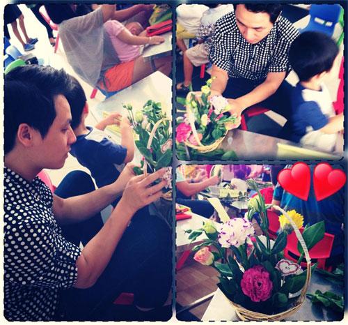Thanh Hằng rạng rỡ khi nhận được hoa 8-3-4