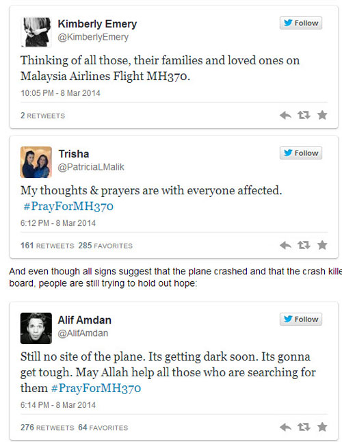 Cả thế giới cầu nguyện cho chiếc máy bay mất tích - 4
