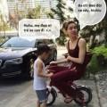 """Làng sao - Thú vị hình ảnh Hà Hồ """"tranh"""" xe với Subeo"""