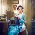 Làng sao - Lại Hương Thảo làm quý cô đan len