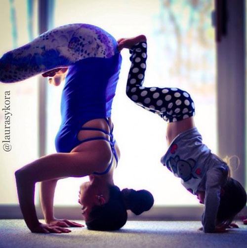 me 2 con dang dep hon mau nho yoga - 10