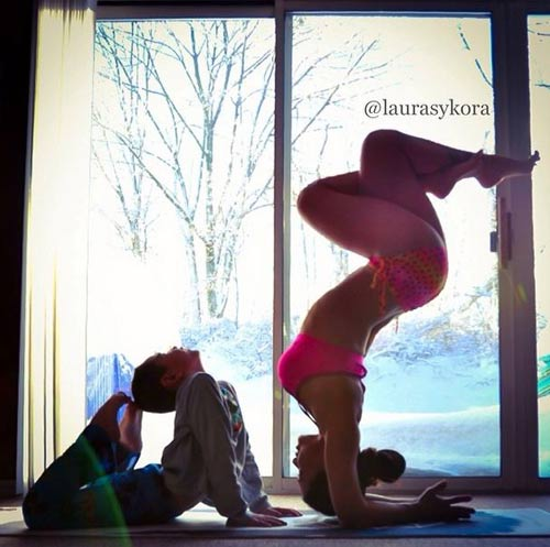me 2 con dang dep hon mau nho yoga - 7