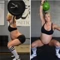 Bà bầu - Mang thai 38 tuần vẫn vô tư nâng tạ