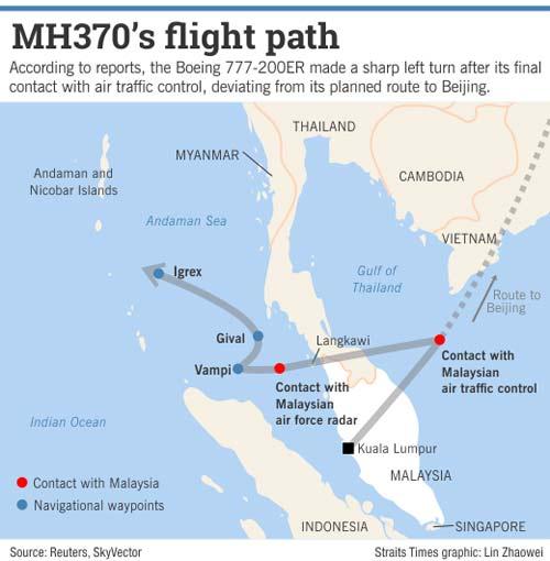 may bay mh370 da bay den khi het nhien lieu? - 1