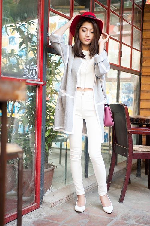4 cách 'trị' chiếc áo cardigan dáng dài ương bướng-14