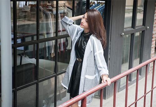 4 cách 'trị' chiếc áo cardigan dáng dài ương bướng-3