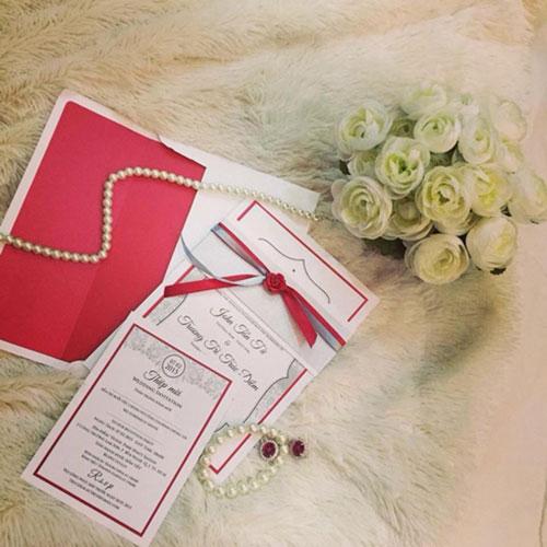 Lộ thiệp cưới trang nhã của Trúc Diễm - 1