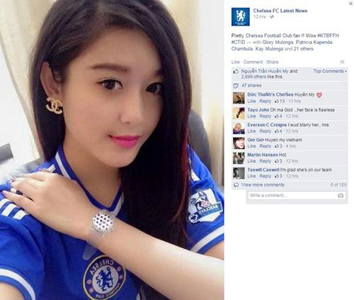 Fanpage thế giới của Chelsea bất ngờ đăng ảnh Á hậu Huyền My-1