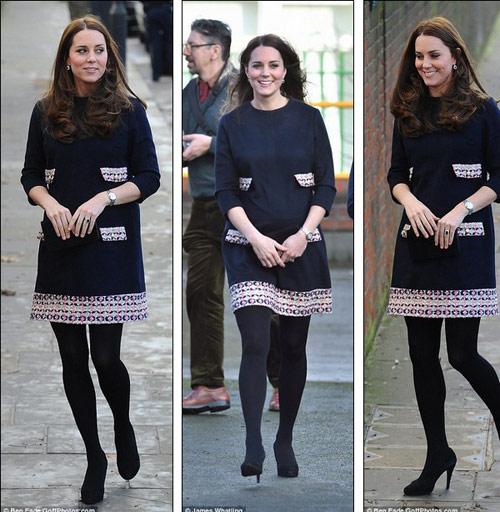 Ngắm bụng bầu ngày một lớn của Công nương Kate-2