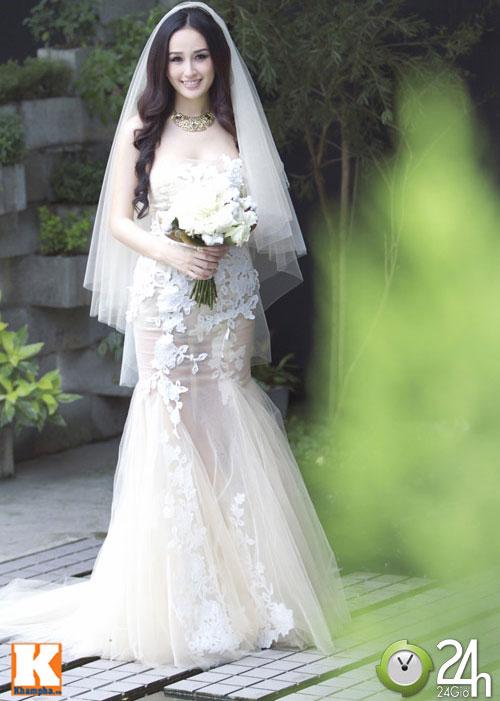 Mai Phương Thúy làm cô dâu gợi cảm dù chưa kết hôn-13