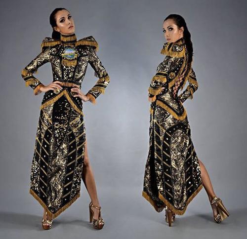 Trang phục dân tộc tại HH Hoàn vũ 2014 gây tranh cãi - 1