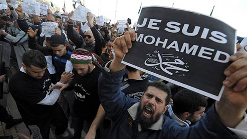 Biểu tình phản đối tạp chí Pháp bùng nổ khắp thế giới-10