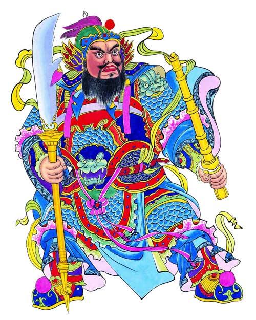 Dán tranh Tết đúng ngày cuối năm kéo Môn Thần bảo vệ nhà-3