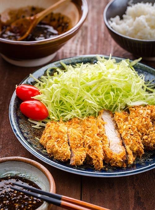 Thịt lợn tẩm bột nướng giòn kiểu Nhật-9
