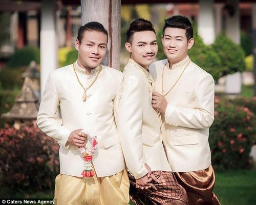 dam cuoi dong tinh 3 nguoi sieu dac biet o thai lan - 3