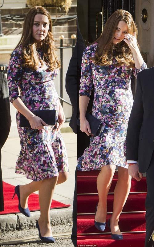 Công nương Kate lộ vẻ mệt mỏi khi mang bầu tháng cuối-5