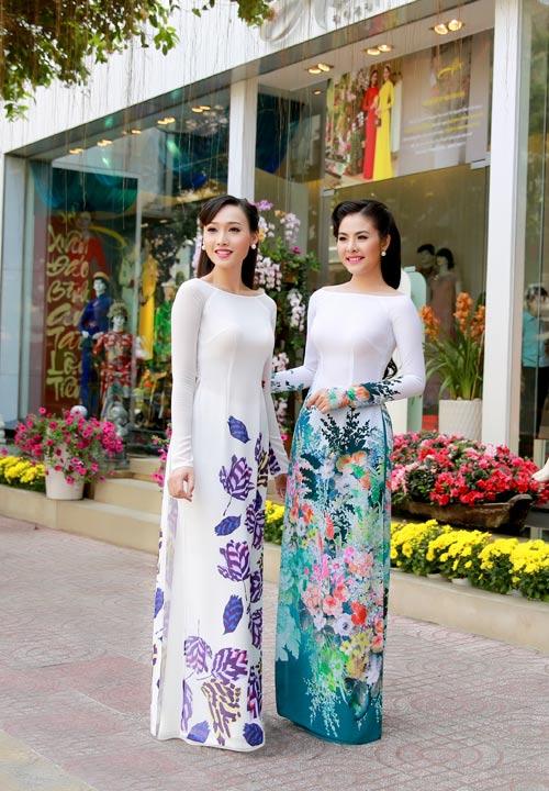 Vân Trang, Khánh Ngọc duyên dáng áo dài 'hoa đồng nội'-6