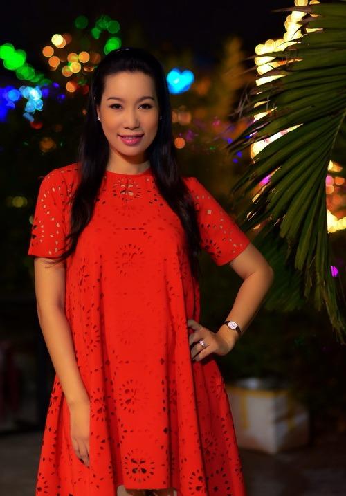 "trinh kim chi mang bau 6 thang van ""cham cay"" - 1"