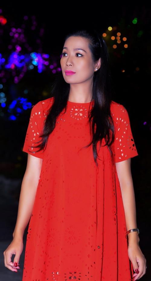 "trinh kim chi mang bau 6 thang van ""cham cay"" - 2"