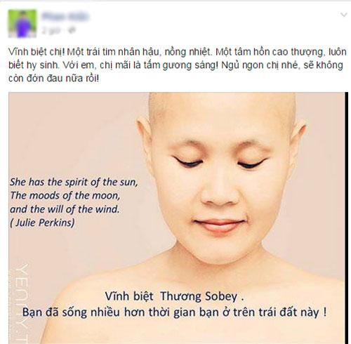 """""""nguoi tiep lua cho phu nu ung thu vu"""" khanh thuong qua doi - 2"""