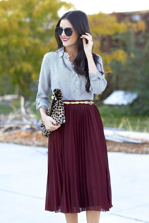 Nao lòng ngắm váy xếp ly của phái đẹp bốn phương-13