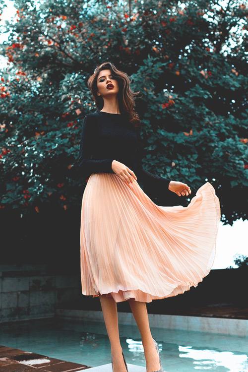 Nao lòng ngắm váy xếp ly của phái đẹp bốn phương-5
